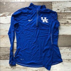 Kentucky Wildcats Nike Dri-Fit 1/4 Zip Pullover